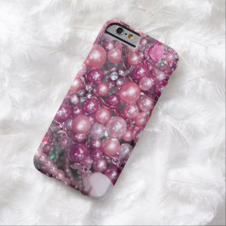 Roze Stijl Bling Barely There iPhone 6 Hoesje