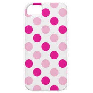 Roze stippenpatroon barely there iPhone 5 hoesje