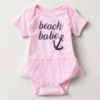 Roze Strand Babe - de Uitrusting van de Tutu van Romper