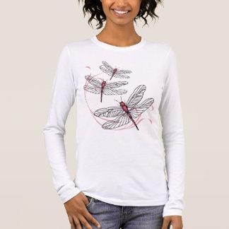 Roze T-shirt van het Sleeve van de Dames van de
