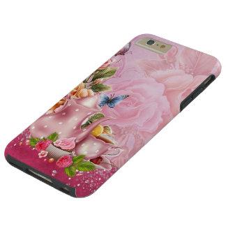 Roze Taaie iPhone 6 van het Theekransje plus Tough iPhone 6 Plus Hoesje