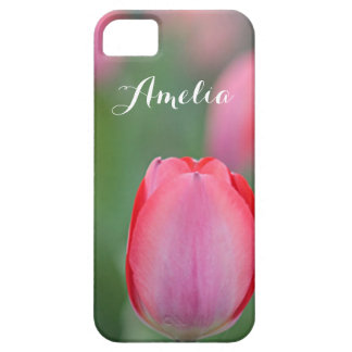 Roze tulp barely there iPhone 5 hoesje