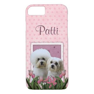 Roze Tulpen - Bichon en Maltees iPhone 8/7 Hoesje