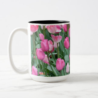 Roze Tulpen Tweekleurige Koffiemok