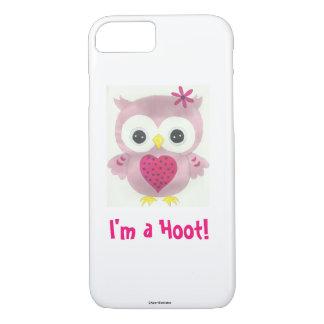 Roze Uil ben ik een iPhoneHoesje van het iPhone 8/7 Hoesje