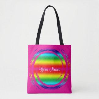 Roze van de Cirkel van de regenboog het Wervelende Draagtas