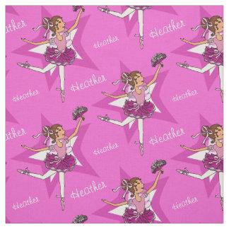 Roze van de het meisjesdouane van het ballerina stof