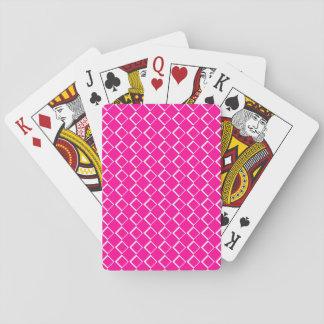 Roze van het Effect van diamanten het Patroon Pokerkaarten