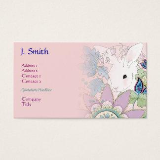 Roze van het Konijntje Bedrijfs/van het Profiel Visitekaartjes