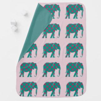 Roze van het Silhouet van de olifant het Elegante Inbakerdoek