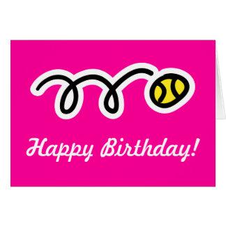 Roze verjaardagskaart voor vrouwelijke kaart