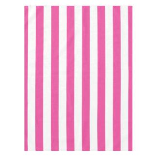 Roze Verticale Strepen Tafelkleed