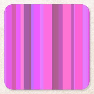 Roze verticale strepen vierkante onderzetter