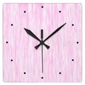 Roze Vezel Vierkante Klok