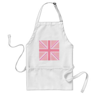 Roze Vierkant Union Jack/Vlag Standaard Schort