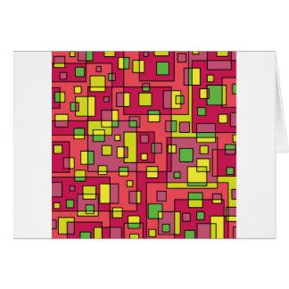 Roze vierkante achtergrond briefkaarten 0