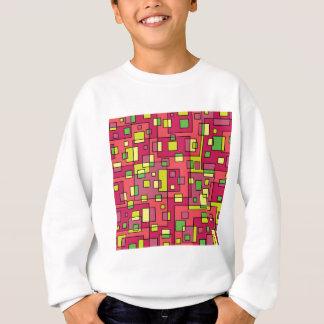 Roze vierkante achtergrond trui