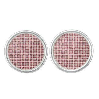 Roze Vierkanten Manchetknopen