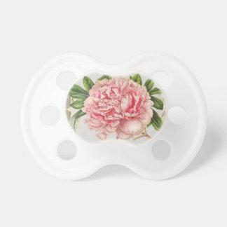 Roze Vintage Bloemen wijd Baby Speentje
