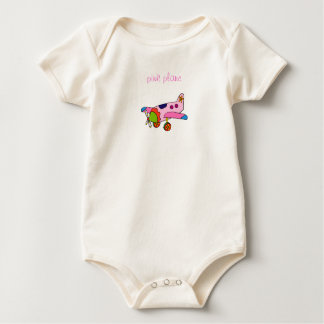 Roze Vliegtuig Baby Shirt