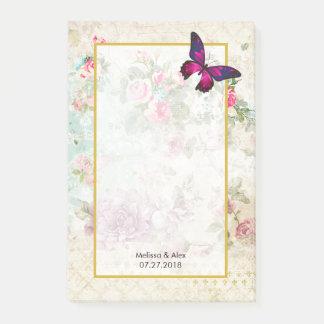 Roze Vlinder en het Sjofele Vintage Huwelijk van Post-it® Notes