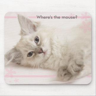 Roze waar is de muis? muismat
