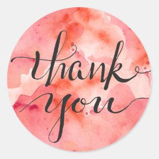 Roze Wolken van Dankbaarheid Ronde Sticker