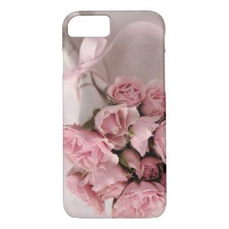 Rozen met roze lint iPhone 7 hoesje