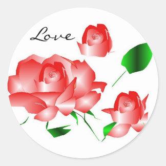 """""""Rozerood nam de Sticker van I van de Liefde"""" toe"""