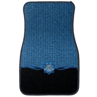 Rozet en het Blauw van het Weefsel Auto Vloermat