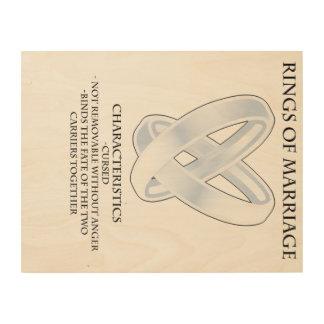 RPG_Rings van huwelijk Houten Canvas Prints