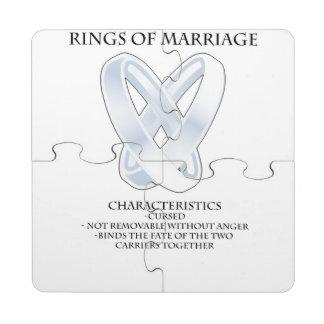 RPG_Rings van huwelijk Puzzel Onderzetter