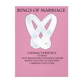 RPG_Rings van huwelijk Stretched Canvas Prints