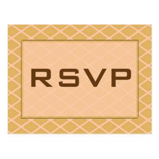 RSVP biege Briefkaart