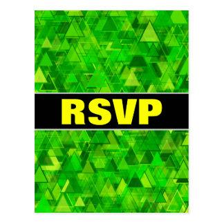 """""""RSVP"""" + """"Bos"""" van het Groene Patroon van de Briefkaart"""