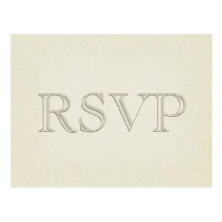 RSVP - Eenvoudige Moderne Tan Briefkaart