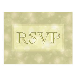 RSVP - Elegante Gouden Lichten Bokeh Briefkaart