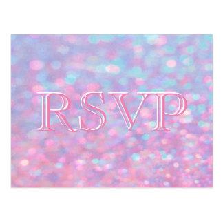 RSVP | Roze Lichten Bokeh Briefkaart