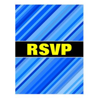 """""""RSVP"""" + Strepen van het Blauwe Briefkaart van het"""