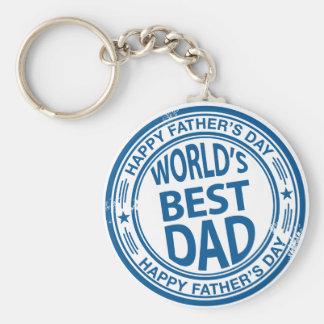 Rubber de zegeleffect van het vaderdag basic ronde button sleutelhanger