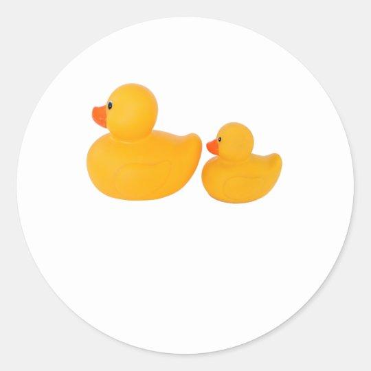 Rubber ducks ronde sticker