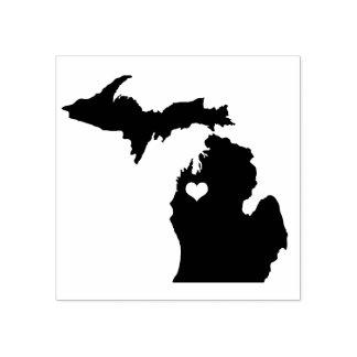 RubberZegel van Michigan van de Stad van het hart Rubberenstempel