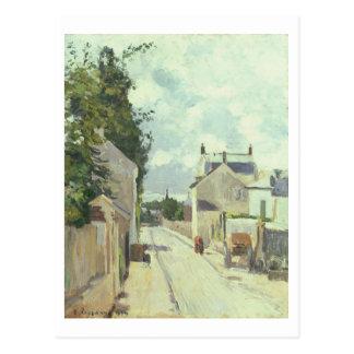 Rue DE l'Ermitage, Pontoise, 1874 (olie op canvas) Briefkaart