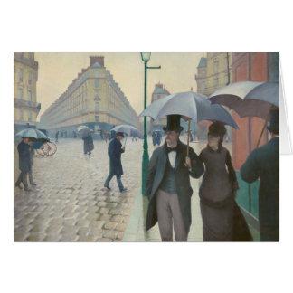 Rue DE Parijs Temps DE Pluie door Gustave Kaart