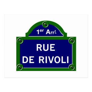 Rue de Rivoli, het Teken van de Straat van Parijs Briefkaart