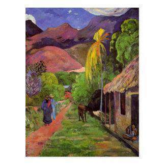 """Rue DE Tahiti"" - het Briefkaart van Paul Gauguin"