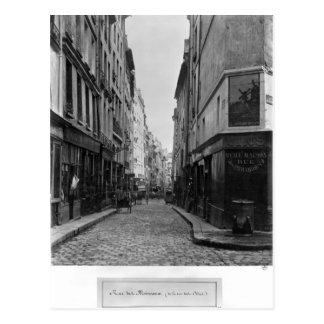 Rue des Moineaux, van Rue des Orties, Parijs Briefkaart