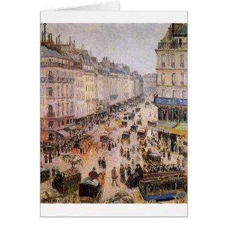 Rue Heilige Lazare door Camille Pissarro Briefkaarten 0