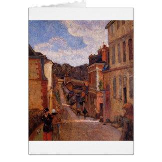 Rue Jouvenet, Rouen door Paul Gauguin Briefkaarten 0