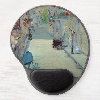 Rue Mosnier met Vlaggen Manet die Mousepad Gel Muismat